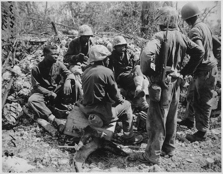 """17th Special"" Seabees with the 7th Marines on Peleliu (public domain)"