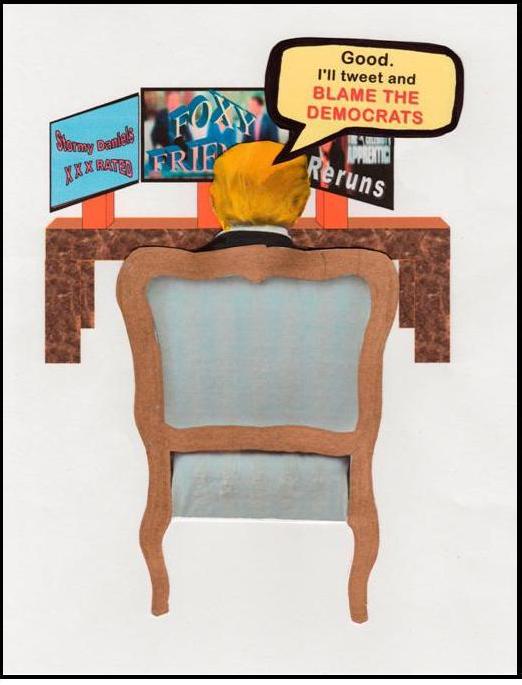 "Panel 2/3 of Cartoon ""Gov't Shutdown,"" by Monica Farrington 10 Feb. 2018"