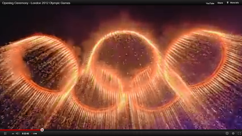 Olympics 2012. Opening ceremony London 2012 Olympic Games. YouTube screen shot. By id513128. Flickr (CC BY-NC-ND 2.0)