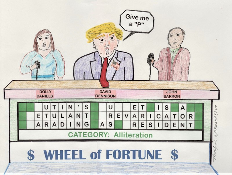 "TOON: ""Wheel Of Fortune."" Political commentary by Monica Farrington"