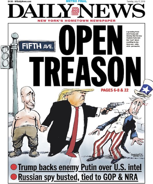 Cover of N.Y. Daily News 17 July 2018
