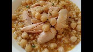 Palestinian Maftoul-Couscous & Chicken Soup !